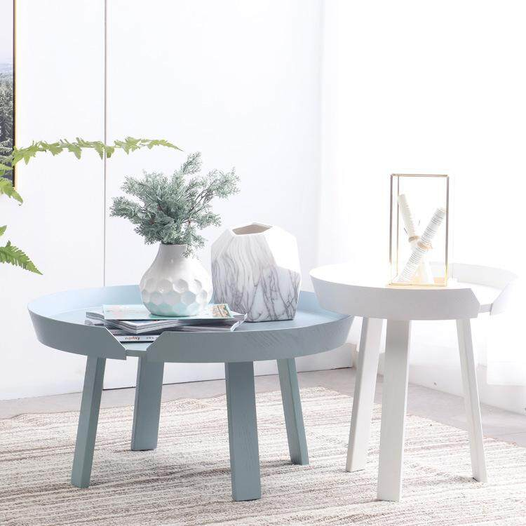 Colorful Oceans Nordic Solid Wood Coffee Table Simple Modern Living Room Small Apartment Creative Round Small Table