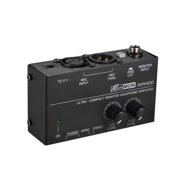 Ultra-Compact Monitor Headphone Amplifier Amp with XLR Microphone Input 6.35mm Monitor Input 6.35mm & 3.5mm Headphone Outputs Volume Controls