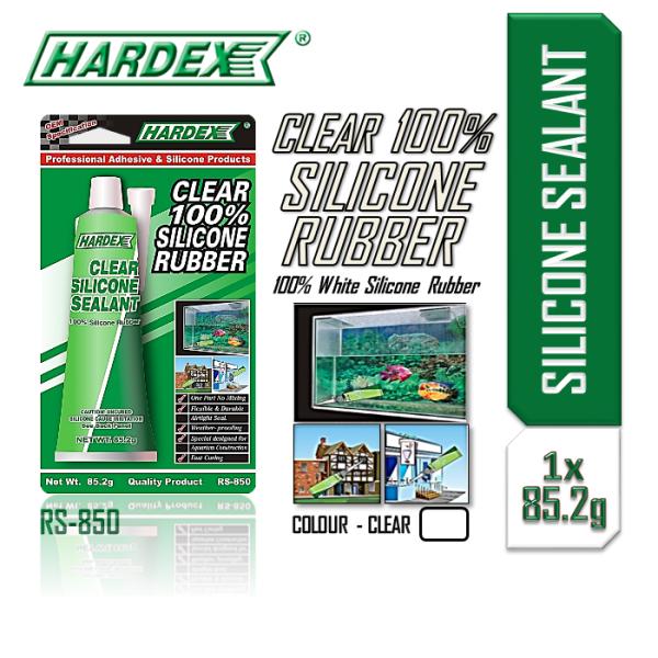 [Clear/Jernih] HARDEX Clear Silicone Sealant Tube 82.5g