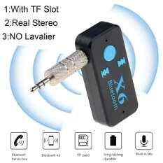 Bộ Chuyển Đổi Âm Thanh Bluetooth Không Dây 3 In1 Bộ Chuyển Đổi Âm Thanh Dongle Âm Thanh Nổi 3.5Mm Hỗ Trợ Thẻ TF Bộ Phụ Kiện Rảnh Tay Cho Xe Hơi