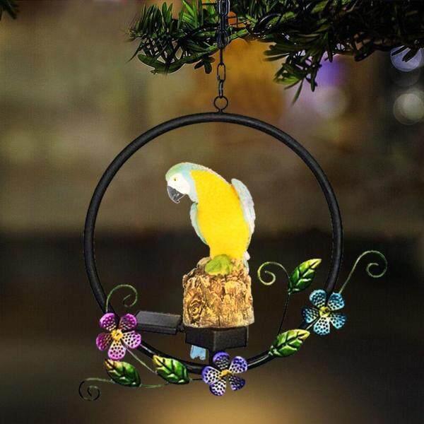 Đèn Năng Lượng Mặt Trời Chinatera, Đèn LED Treo Hình Chim Vẹt, Phong Cách Cổ Điển, Dùng Trang Trí Sân Vườn Chống Thấm Nước