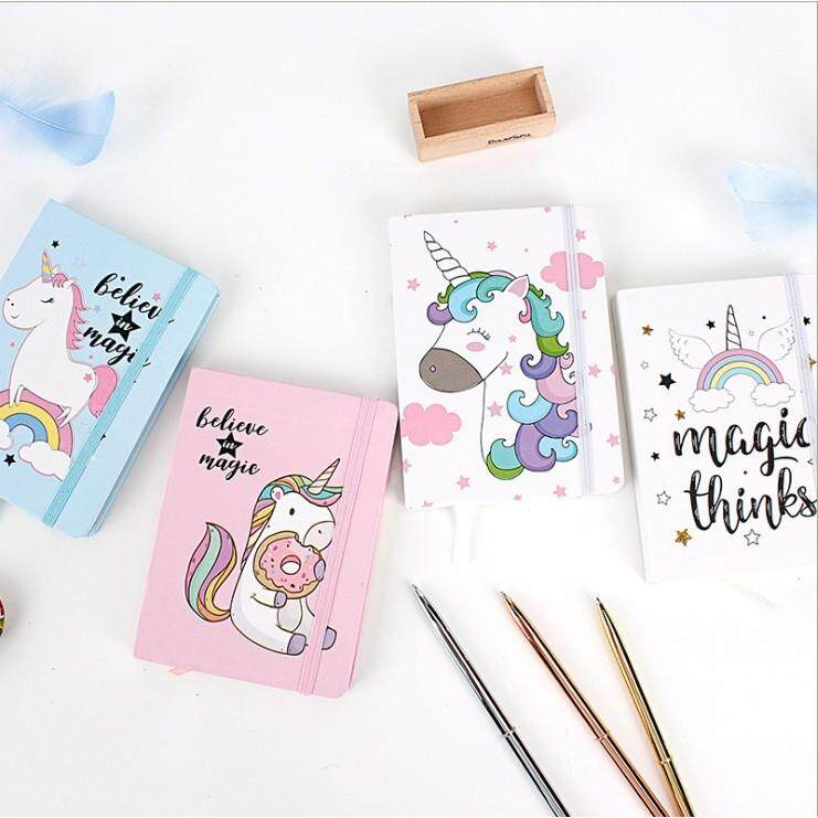 A7 Unicorn Hardcover Notebook / Planner Book / Dairy / Door Gift Present / Party Pack By Lovelygoods.