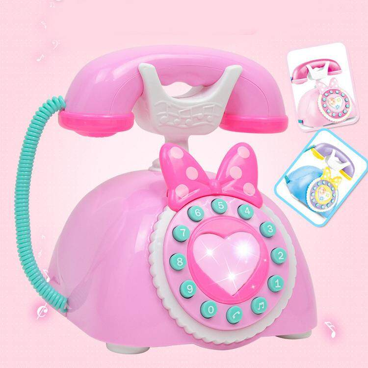 Children Plastic Telephone Toy Educational Gift Kids Role Playing Electric Music Phone Play Sound Learning Musical Toy By Lemonle