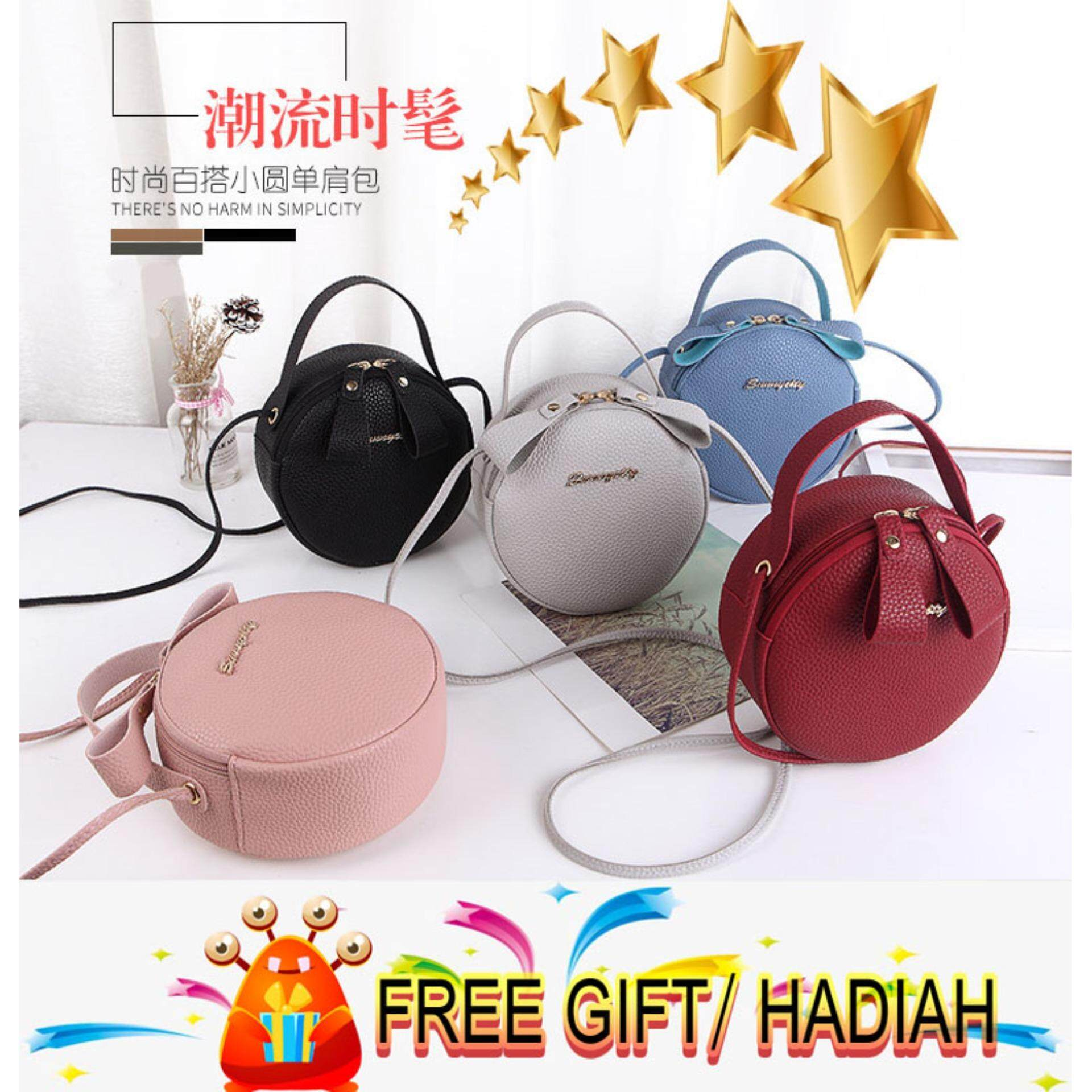 a792e67f9a Women small round PU Bag Fashion Style New 2018
