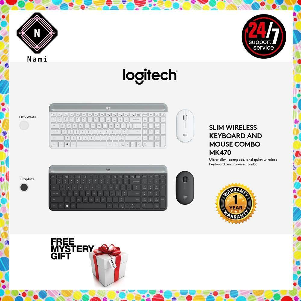 Logitech MK470 Slim, Compact & Quiet Wireless Keyboard & Mouse Combo (Double Bubble Wrap Packing + Fragile Sticker) Malaysia