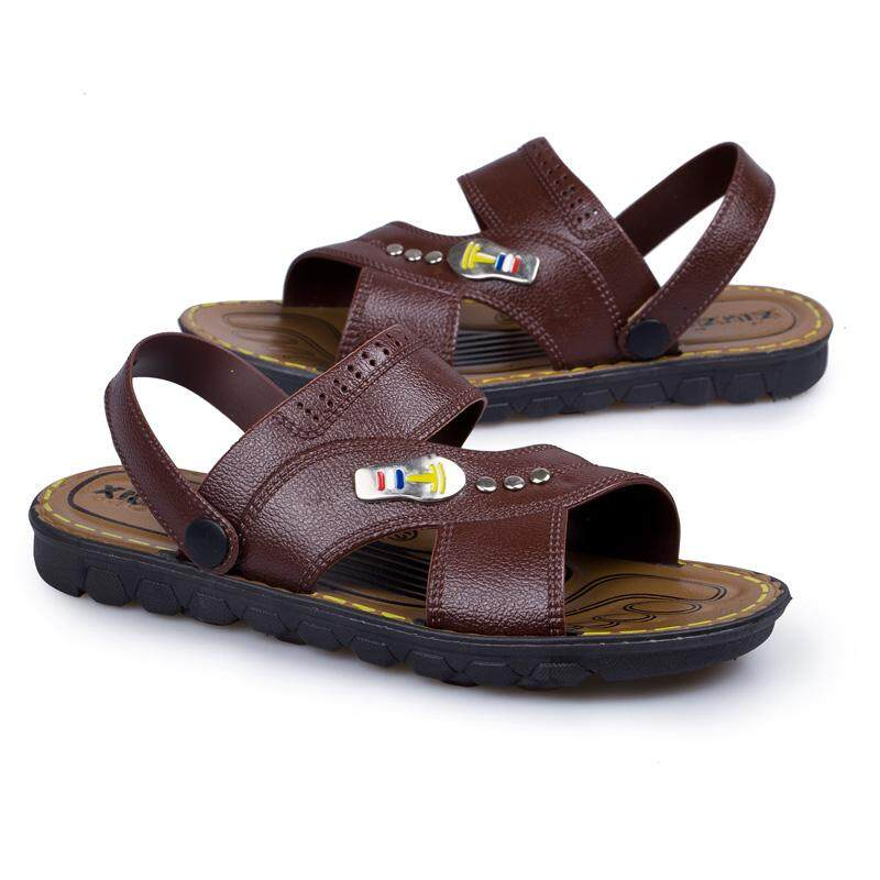 200f15f30 Summer 2019 Men s Sandals Fashion Leisure Beach Shoes Men s Double-Wear  Sandals with Slip-