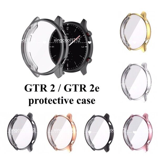 Ready stock Amazfit GTR2 GTR 2e TPU full soft silicone display frame protective case protector watch GTR 2 cover GTS2e Malaysia