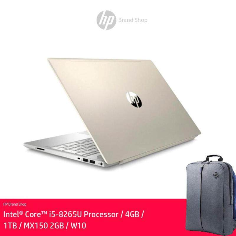 HP Pavilion 15-Cs1026TX 15.6 FHD Laptop Pale Gold ( I5-8265U, 4GB, 1TB, MX150 2GB, W10 )FREE Backpack + RM120 Headset(While Stock Last) Malaysia