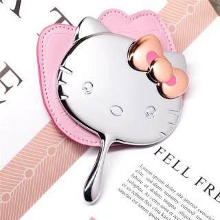 Gương Kim Loại Kitty Chất Lượng Cao Với Túi Da, Gương Trang Điểm Cầm Tay Gương Nhỏ Trang Điểm Cầm Tay thumbnail