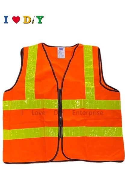 Thick safety vest zip type high reflective visibility outdoors - XXL