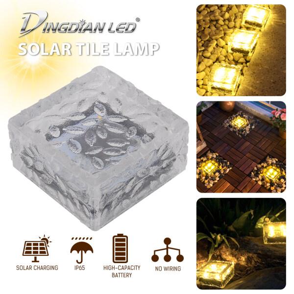 DINGDIAN LED 3 gói năng lượng mặt trời LED ngoài trời ánh sáng băng ánh sáng điều khiển chôn ánh sáng lát sân vườn cho lối đi sân hiên trang trí ngoài trời