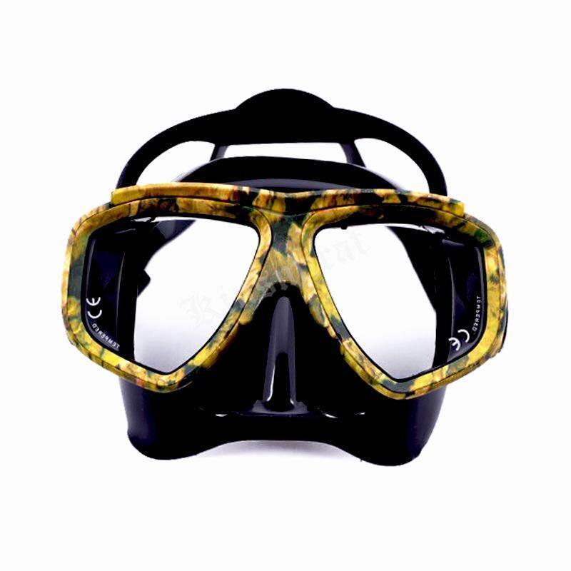 Kamuflase Menyelam Masker Snorkeling Anti-Kabut Kacamata Selam Masker Kacamata Renang Silikon