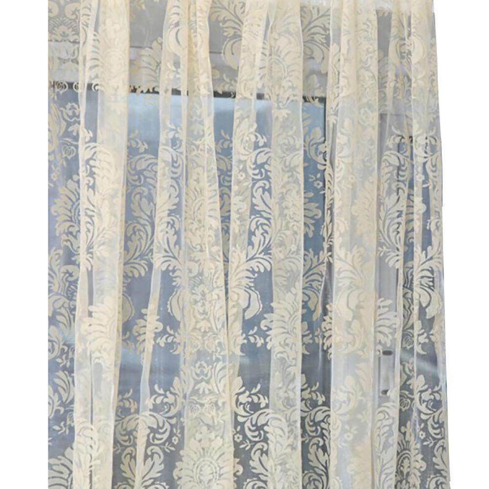Laputa 1 PC Bunga Pola Eropa Gaya Ruang Tamu Tirai Jendela Kamar Tidur Tulle Drape