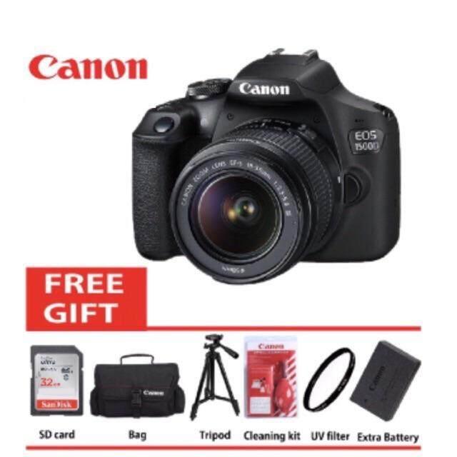 Canon Eos 1500d 18 55mm Is Ii Kit 100 Original Set Dslr Camera Black