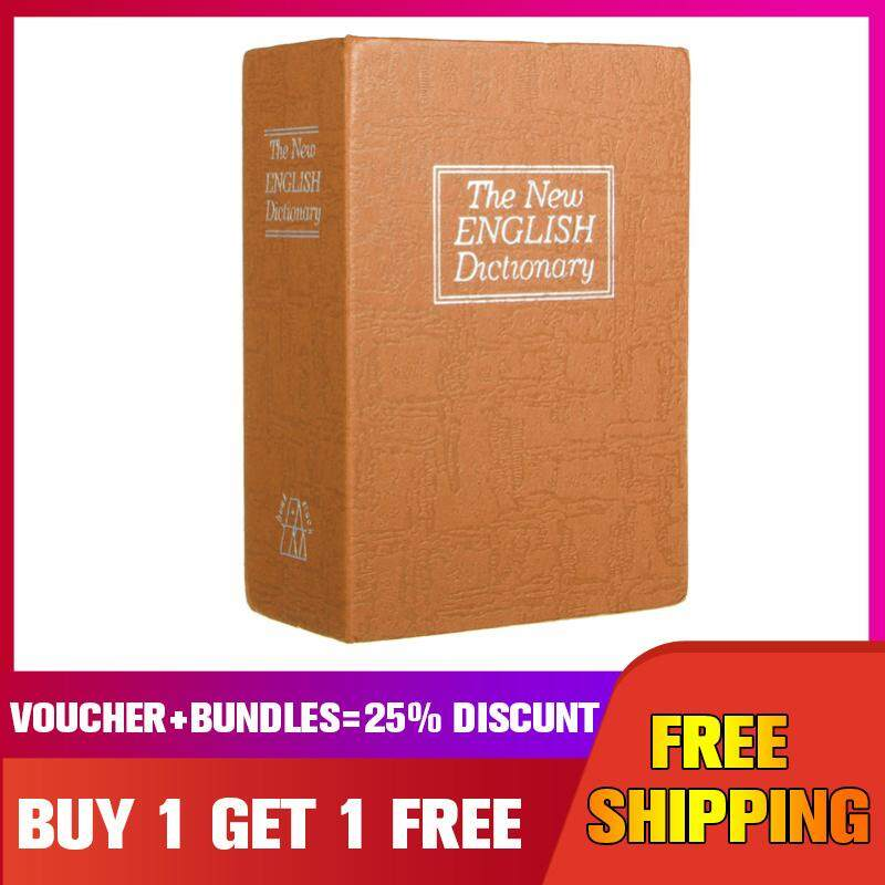 【Buy one get one free】Dictionary Notebook Safe Secret Hidden Cash Security Box Lock Stash Key Gift -- Brown