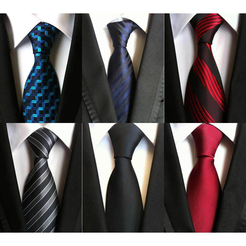 a82249a532ee 6 pcs Fashion Tie Necktie Silk Jacquard Woven Neck Ties for Men Formal  Dress Business Wedding