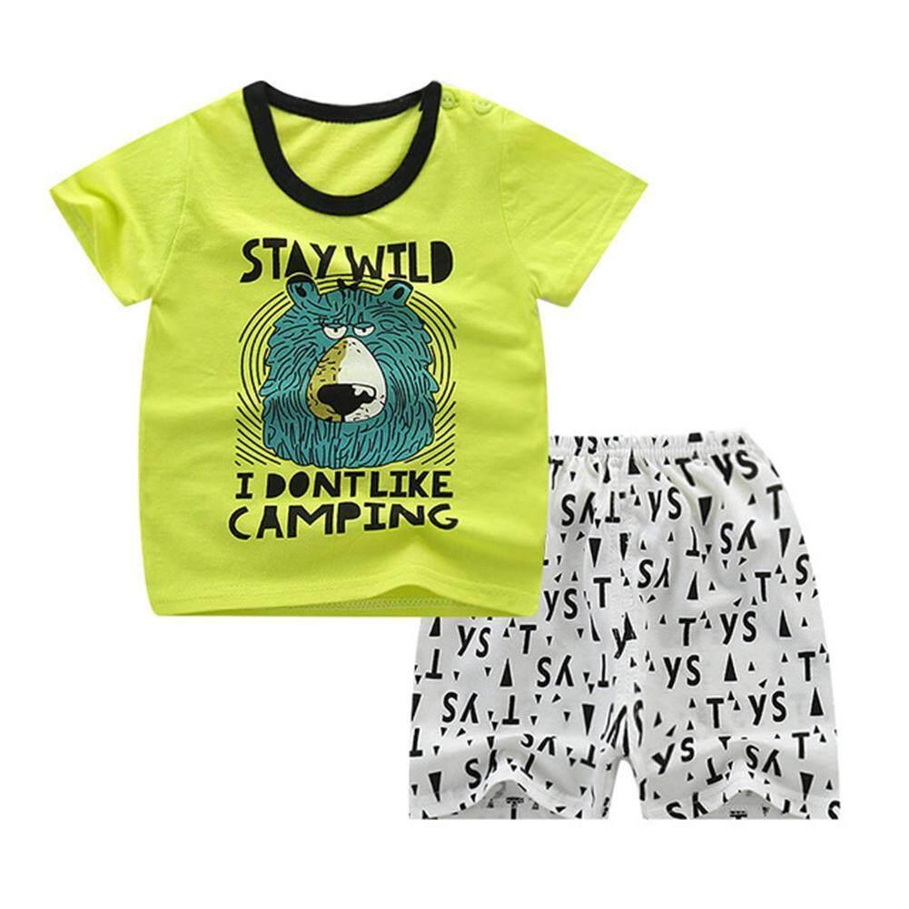 07c49bbe Big Sale Kids Baby Girls Boys Printing Short Sleeve T-shirt Shorts Set