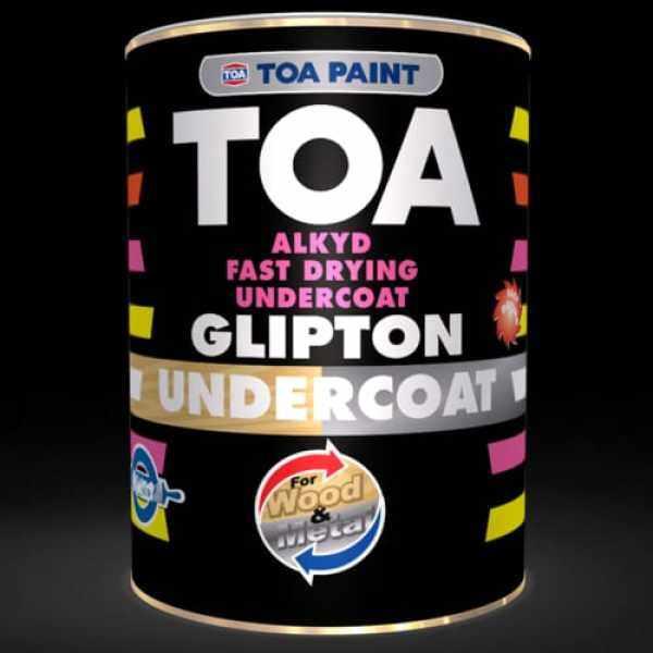 1L TOA Glipton White Undercoat For Metal & Wood