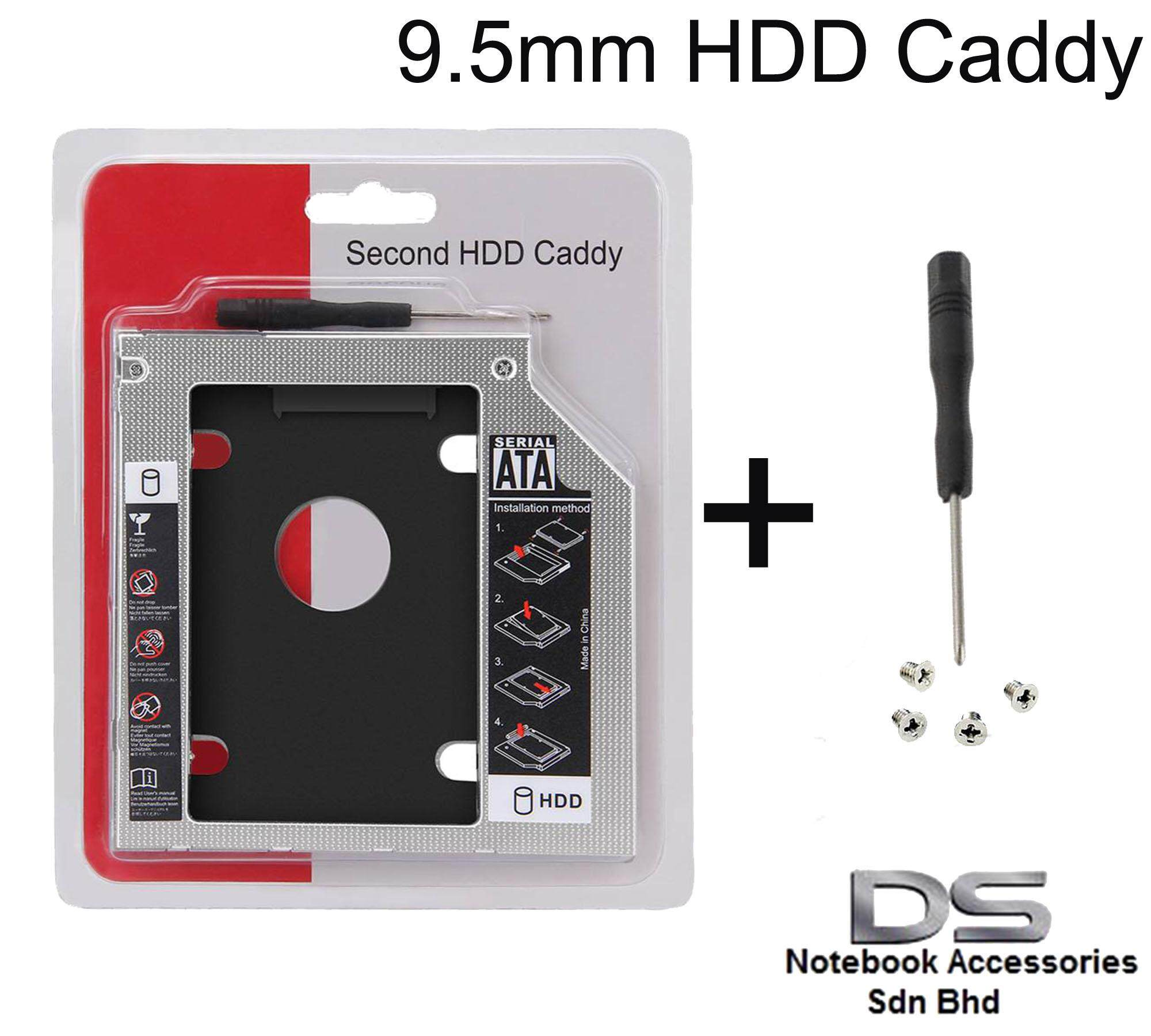 9 5mm SATA to SATA 2nd Hard Disk Drive HDD SSD Caddy for Laptop