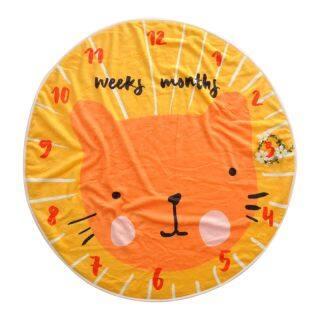 Em Bé Chăn Vải Flannel Mềm Hoạt Hình Mèo Dễ Thương Chụp Ảnh Thảm Ngủ Đa Năng Cho Trẻ Sơ Sinh Đạo Cụ Phông Nền Chụp Ảnh Trẻ Em Hình Tròn Hàng Tháng thumbnail