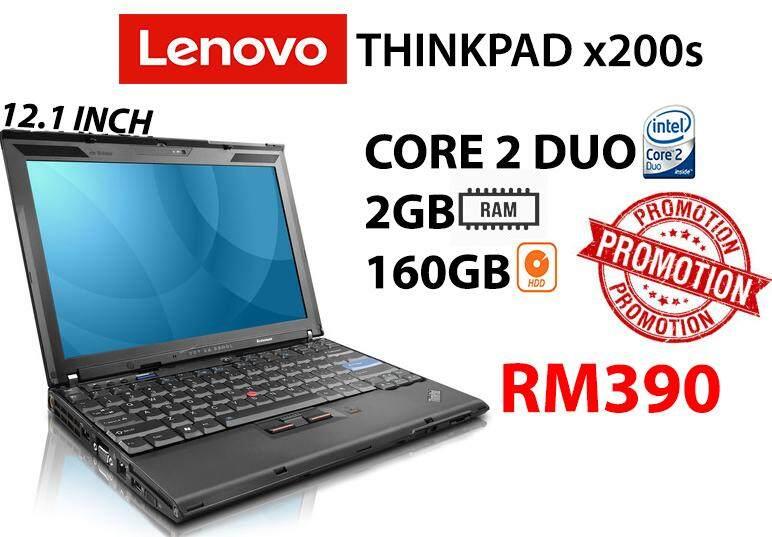 LENOVO THINKPAD x200s CORE 2 DUO 2GB RAM 160GB HDD 12.1 SCREEN INCH Malaysia