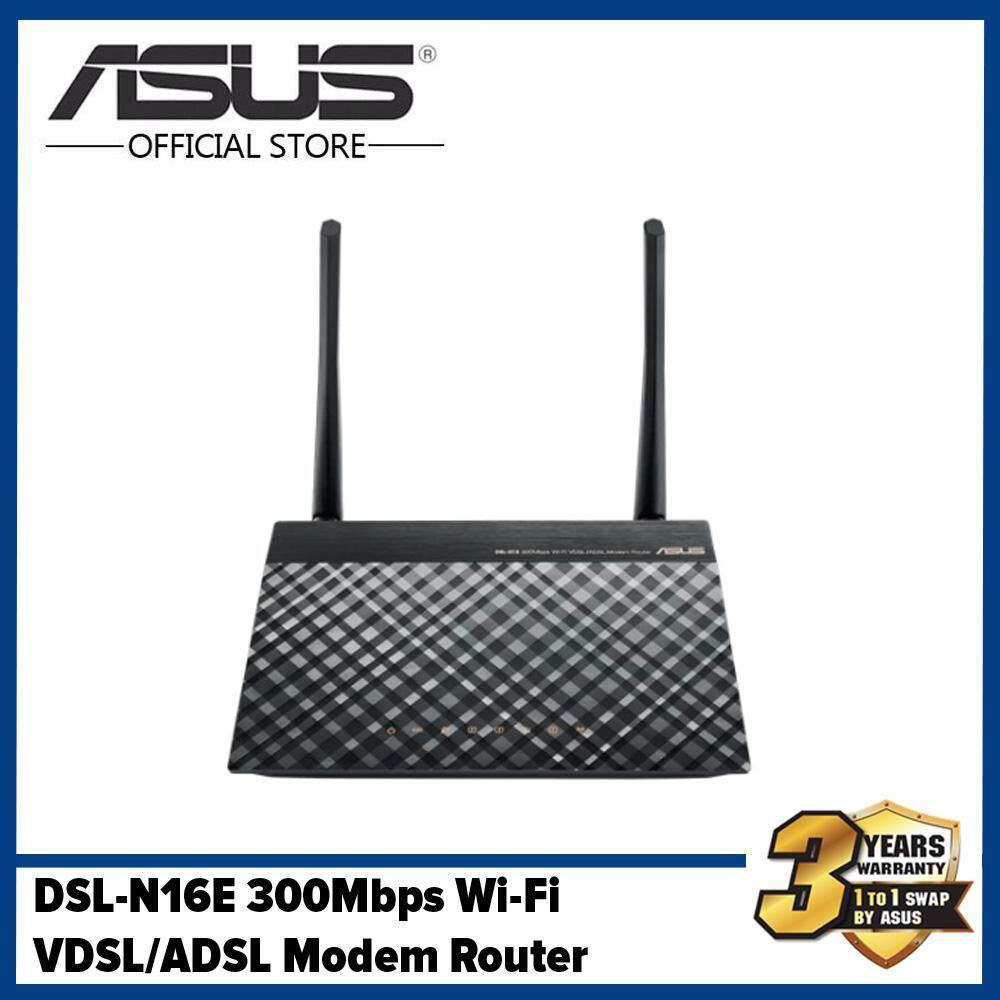 Dsl-N16e 300mbps Wi-Fi Vdsl/adsl Modem Router By Asus Brand Shop.