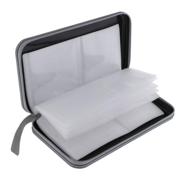 Gazechimp 80 Disc CD Wallet DVD Case Storage Holder Bag Carry Protector Plastic Black