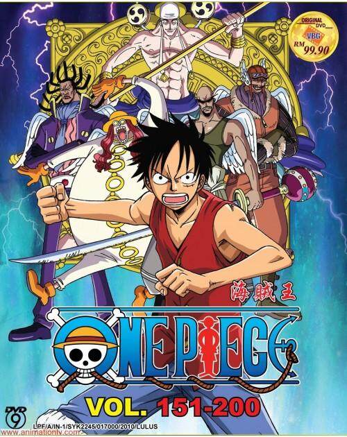 Anime Dvd One Piece Box 4 Vol.151-200 By Onekm Animation Shop.