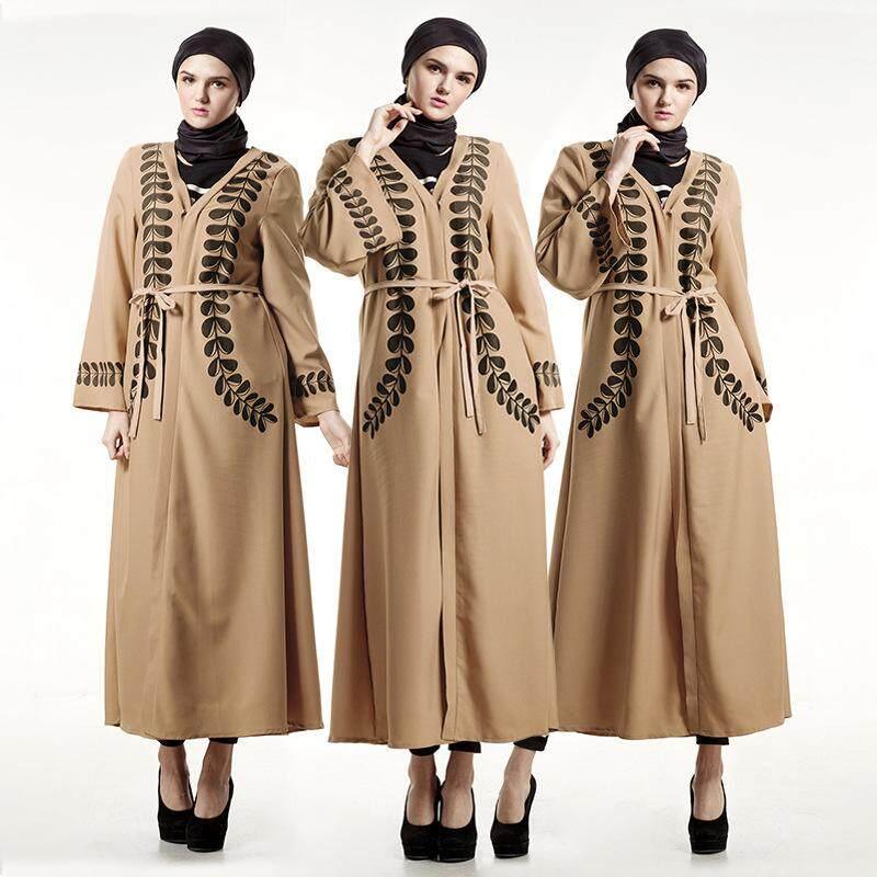 Ramadan Abaya Bahasa อาหรับตุรกีมุสลิม Baru Cardigan พิมพ์เสื้อคลุม Maxi By Tairu Store.