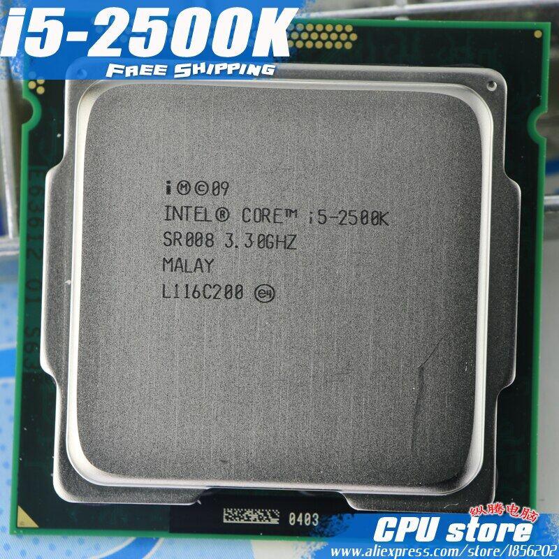 Intel i5 2500 K procesador Quad-Core de 3,3 GHz LGA 1155 TDP: caché de 95 W 6 MB con Gráficos HD i5-2500k (envío gratis trabajando 100%)