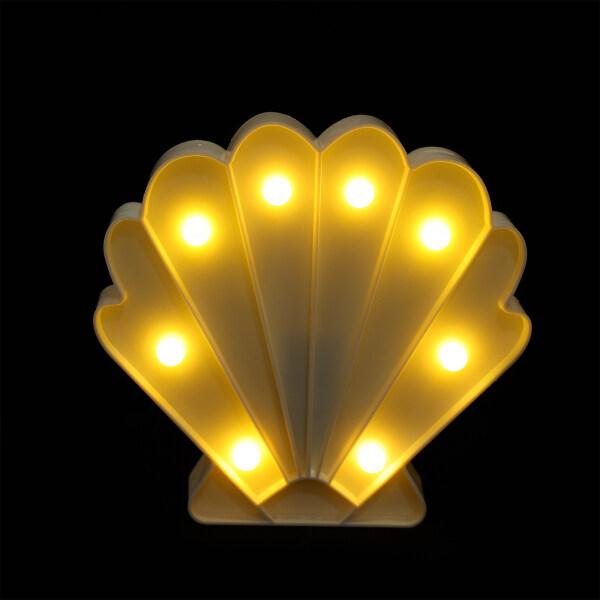Ouruola【Ready Stock】Creative Night Light Decorative Seashell Shaped LED Light Battery Powered Lamp