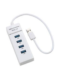 Hub 4 Cổng USB 3.0 Hub, Trung Tâm Dữ Liệu Tốc Độ Cao Cho Điện Thoại Di Động Windows Máy Tính Xách Tay Máy Tính Xách Tay thumbnail