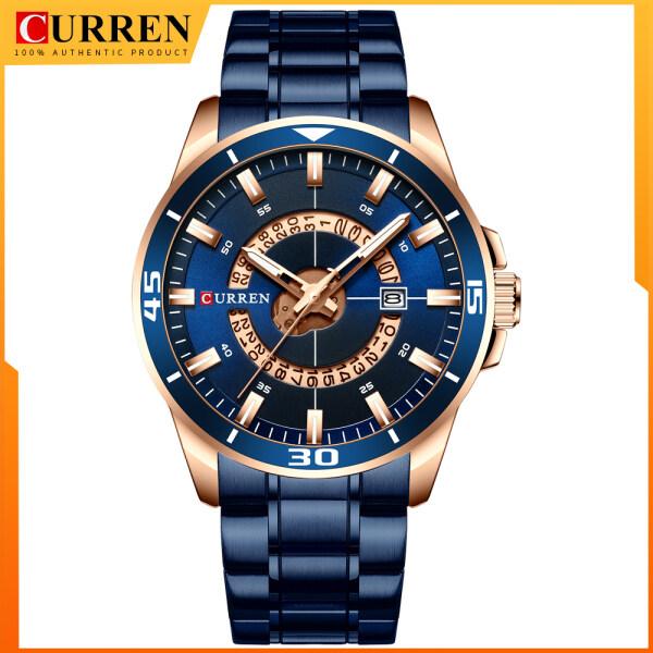 CURREN Stainless Steel Mens Watch Fashion Design Quartz Wristwatch with Date Clock Male Watch 8359 Malaysia