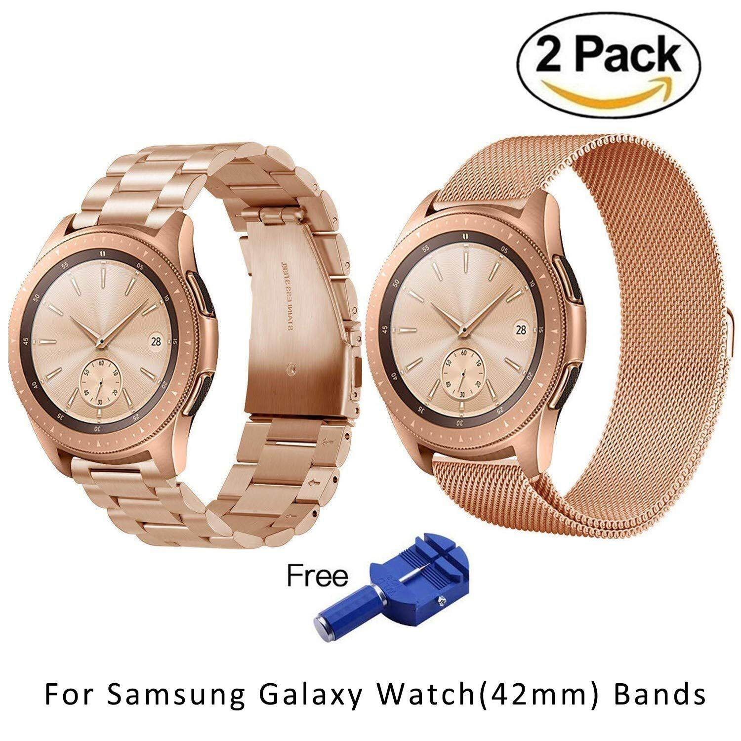 22mm Solid Stainless Steel Metal Replacement Smart Watch Strap+Milanese Loop For Samsung Galaxy Watch 46mmPHP1047 · PHP 1.199