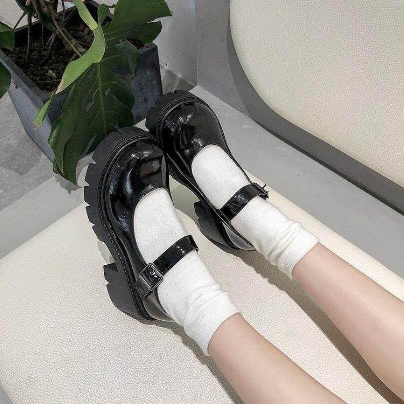 LMI311 Giày Da Nhỏ Nhật Bản Nữ Anh Retro Phong Cách Đại Học Giày Cao Gót Đế Dày Tăng Đế Dày Sinh Viên Đồng Phục JK Mary Jane Giày Đơn Xu Hướng giá rẻ