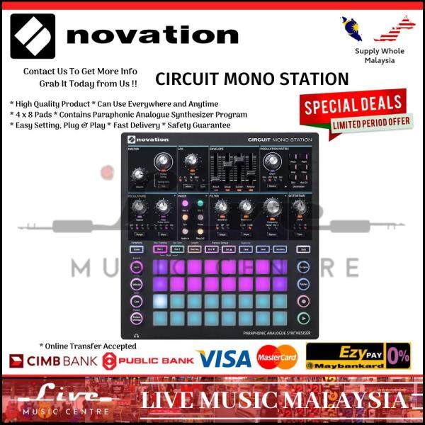 Novation Circuit Mono Station Paraphonic Synthesizer With Three Sequencer Malaysia
