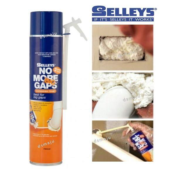 Selleys No More Big Gaps Expanding Foam 750ml Wall Filler Fast Wall Crack Repair