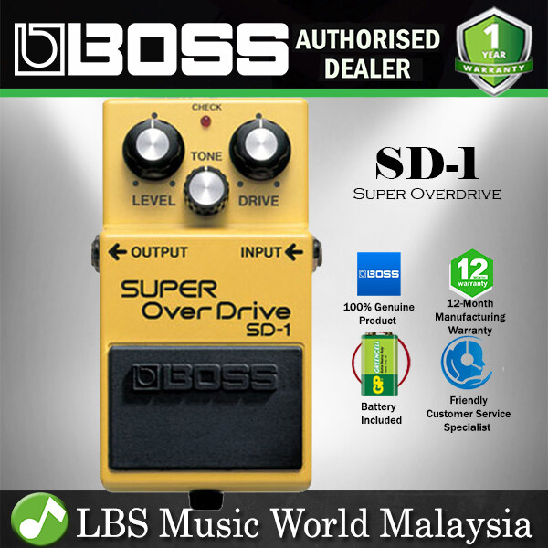 Boss SD-1 Super OverDrive Effect Pedal (SD1 / SD 1) Malaysia