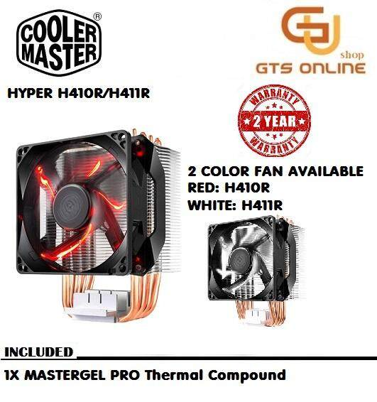 Cooler Master Hyper H411r(white Led)/h410r(red Led) Four Direct Contact Heatpipes Cpu Air Cooler By Good Tech.