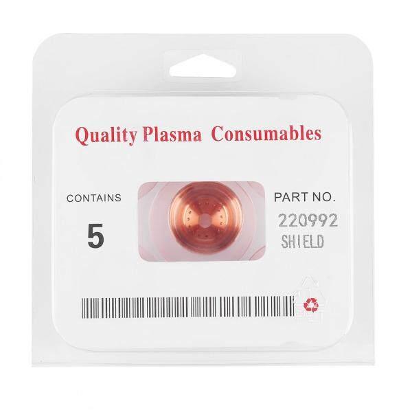 5 pcs/set 220992 Plasma Cutter Cutting Torch Consumables Shield Cap for MAX65/85/105