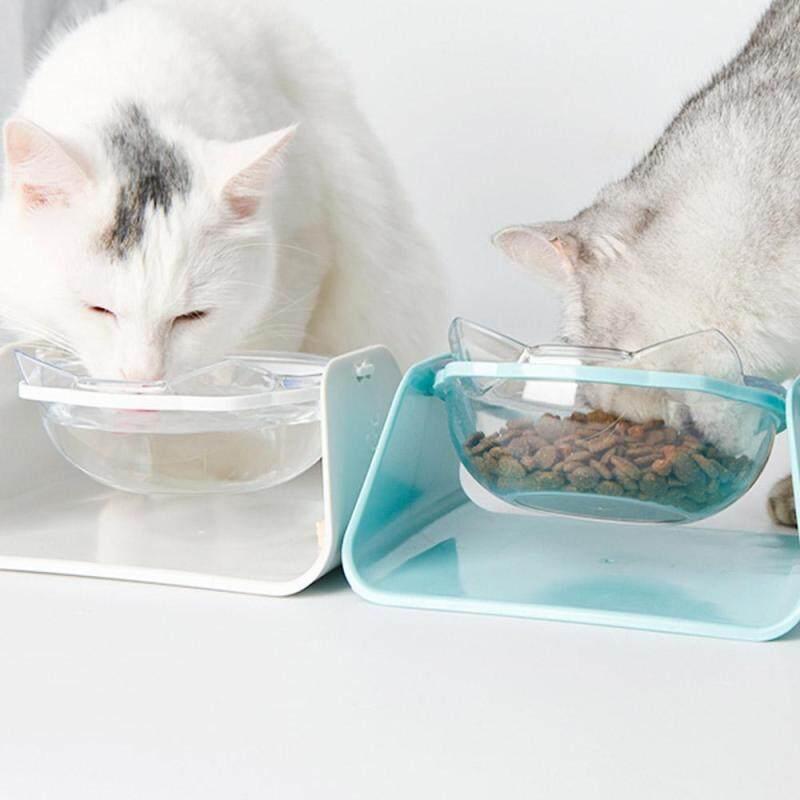 BAIKUAN Nghiêng Góc Có Thể Điều Chỉnh Nhà Dễ Dàng Làm Sạch Chó Di Động Mèo PC Smooth Ngoài Trời Lưu Trữ Phổ Quát Thực Phẩm Cho Ăn Leakproof Chống Trượt Đôi Pet Pet