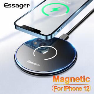 Essenger Sạc Không Dây Từ Tính Qi 15W, Miếng Sạc Không Dây Cho iPhone 12 Pro Max Cảm Ứng Nhanh Mini thumbnail