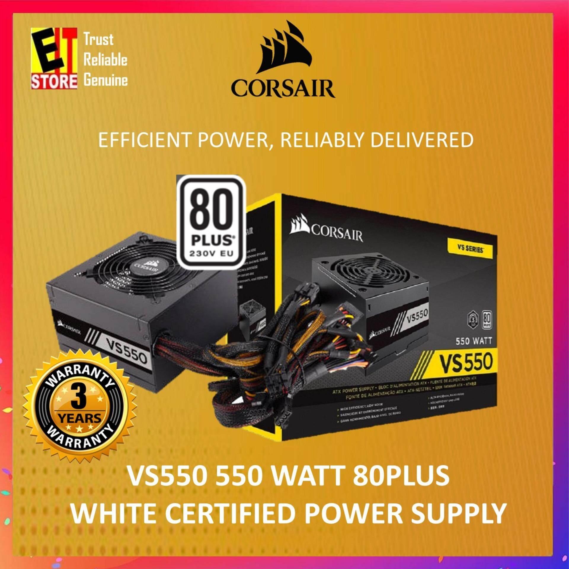 CORSAIR VS SERIES VS550 — 550 WATT 80 PLUS® WHITE CERTIFIED PSU  (CP-9020171-UK)
