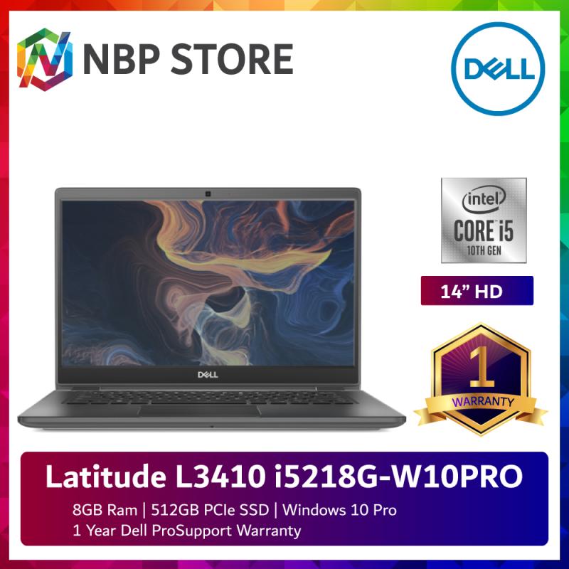 Dell Latitude L3410 i5218G-W10PRO 14 Laptop ( i5-10210U, 8GB, 512GB SSD, Intel, W10P ) Malaysia