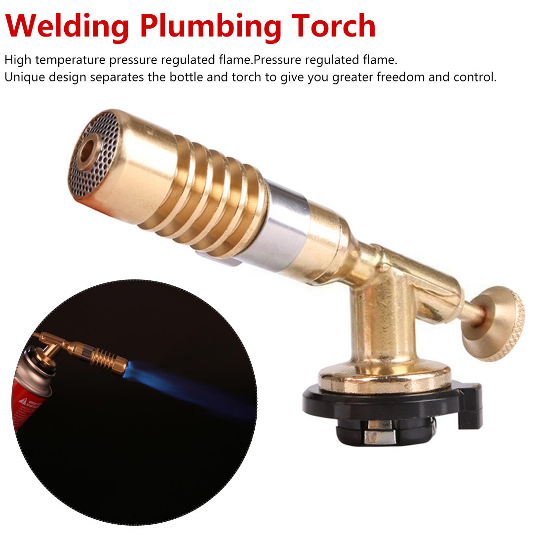 High Temperature Gas Torch Brass Mapp Ignition Brazing Solder Welding Plumbing Kit