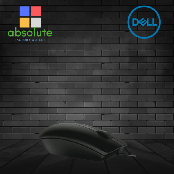 Original Dell MS116 Optical Wired USB Mouse - Black (NEW) Malaysia