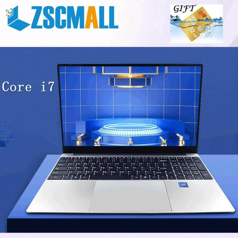 ZSCMALL [Core i7] 2019 Brand new laptop 15.6-inch new narrow-frame metal game book Light and portable ultra-thin student laptop office business ultra-polar female Malaysia