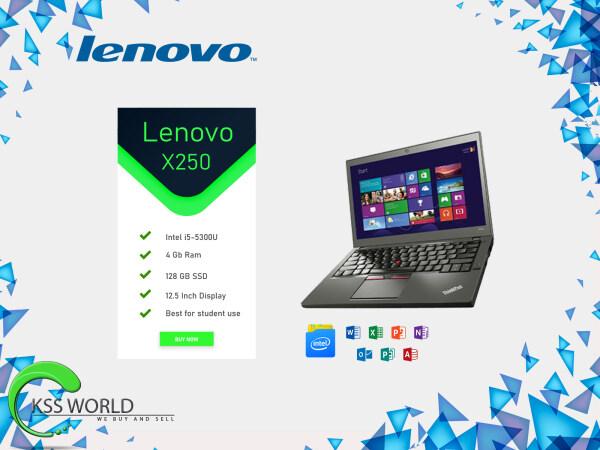 Lenovo x250 intel i5-5300U / 4gb ram / 128gb SSD / 12.5Inch Display Malaysia