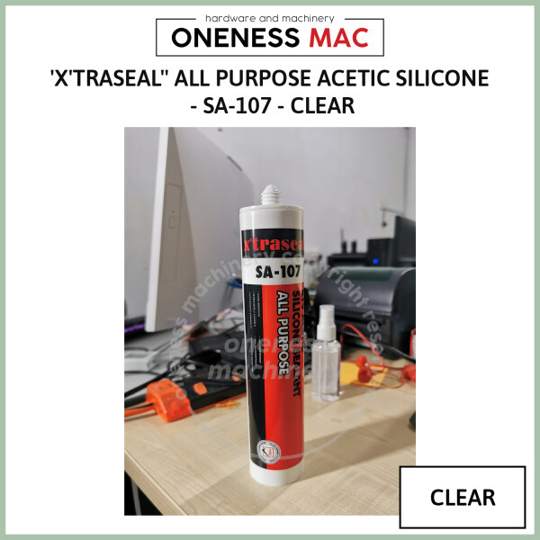 XTRASEAL ALL PURPOSE ACETIC SILICONE - SA-107 -CLEAR