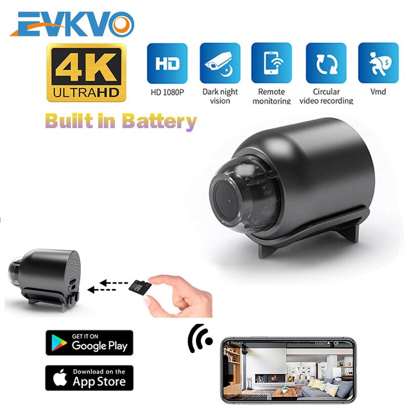EVKVO Camera IP CCTV Không Dây 4K Siêu Nhỏ Camera Phát Hiện Chuyển Động Nhìn Đêm Hồng Ngoại An Ninh Giám Sát Mini, Camera Giám Sát Trẻ Em Wifi HD 1080P